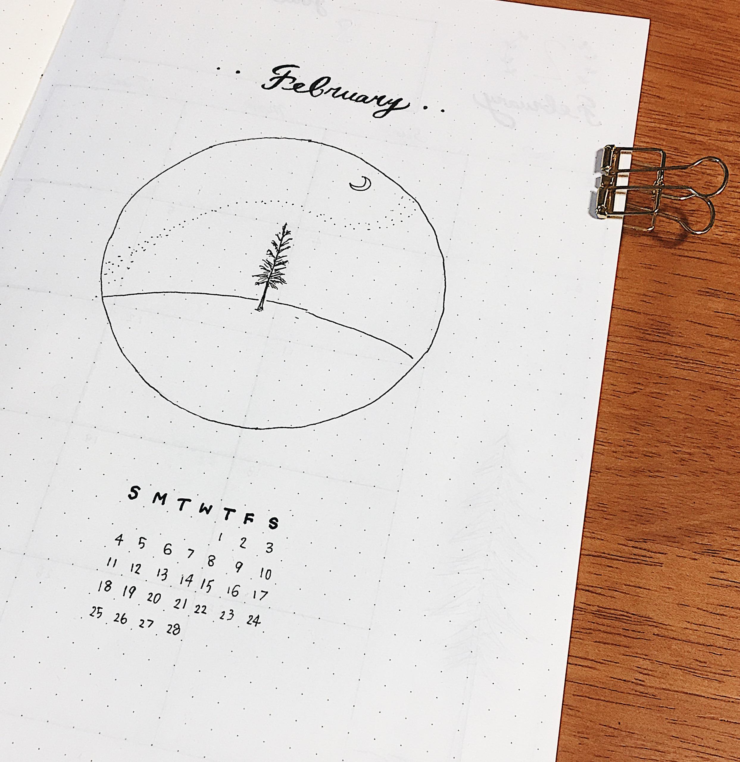 2月のカバーページと、生成色の紙にオススメの修正ペンの紹介。